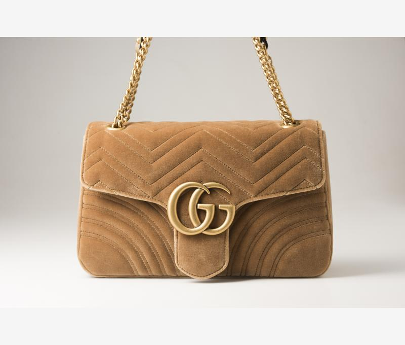 Gucci - GG Marmont velvet medium shoulder bag